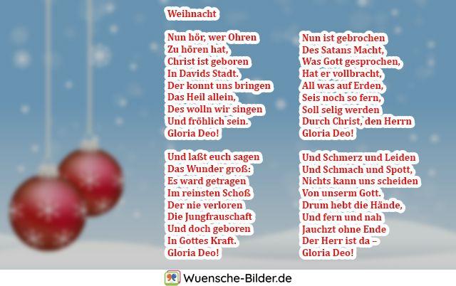 Weihnacht  Nun hör, wer Ohren