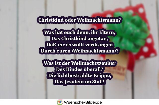 Christkind oder Weihnachtsmann?  Was hat