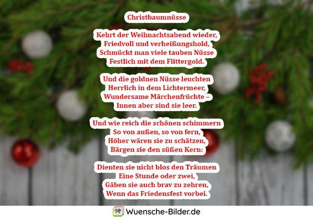 Christbaumnüsse  Kehrt der Weihnachtsabend wieder
