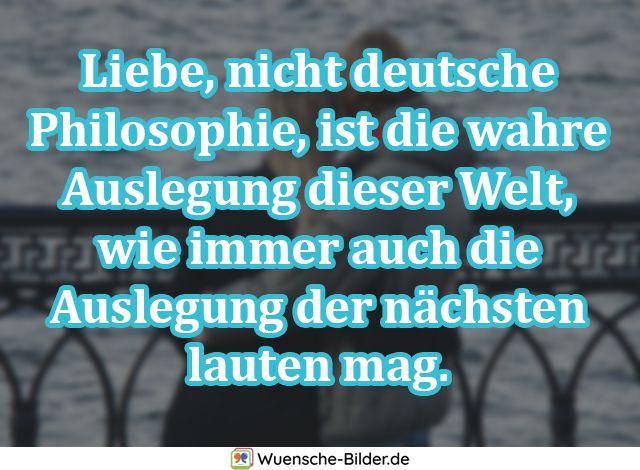 Liebe, nicht deutsche Philosophie, ist