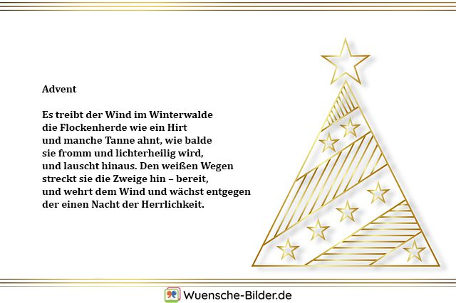 Advent  Es treibt der Wind