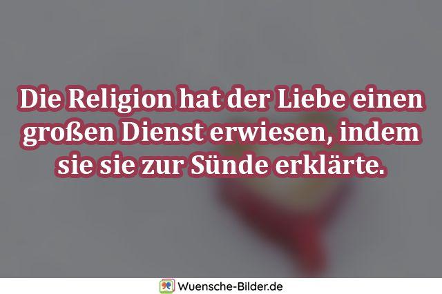 Die Religion hat der Liebe