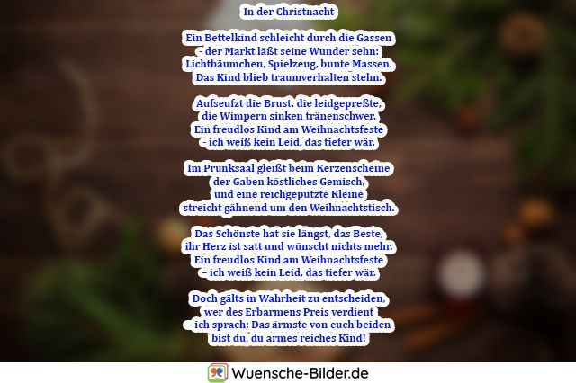 In der Christnacht  Ein Bettelkind