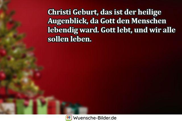 Christi Geburt, das ist der