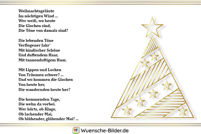 Weihnachtsgeläute Im nächtigen Wind … Wer