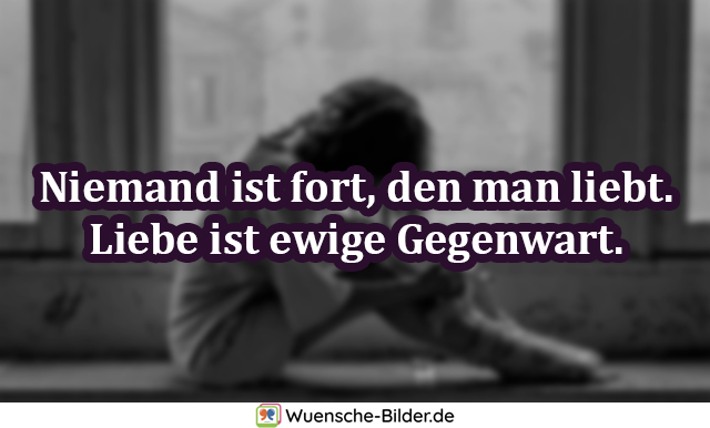 Niemand ist fort, den man