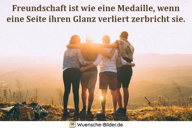 Freundschaft ist wie eine Medaille