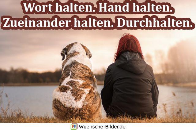 Wort halten. Hand halten. Zueinander