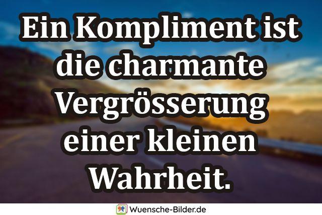 Ein Kompliment ist die charmante