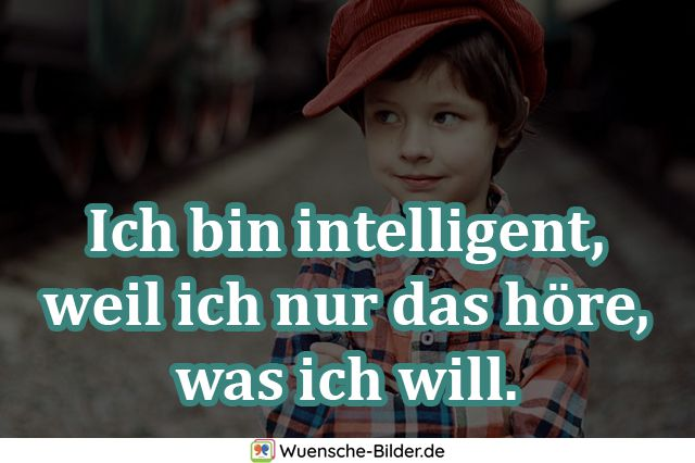 Ich bin intelligent, weil ich