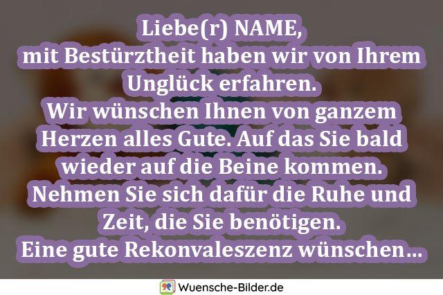 Liebe(r) NAME, mit Bestürztheit haben