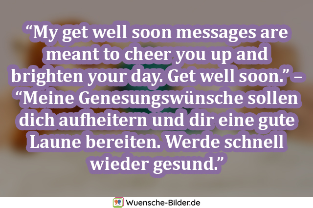 My get well soon messages