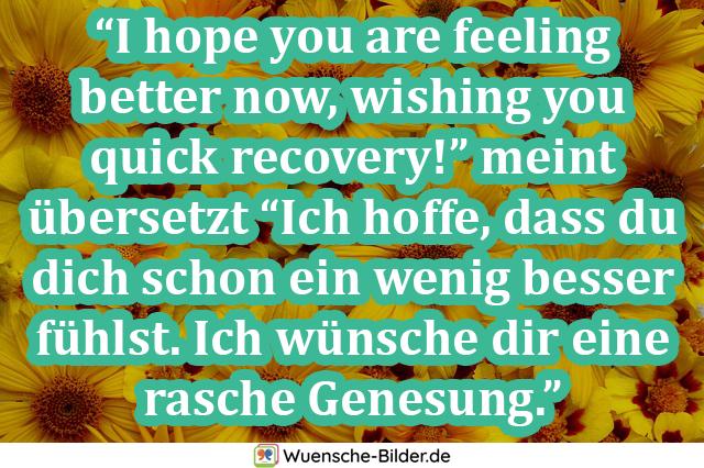 I hope you are feeling