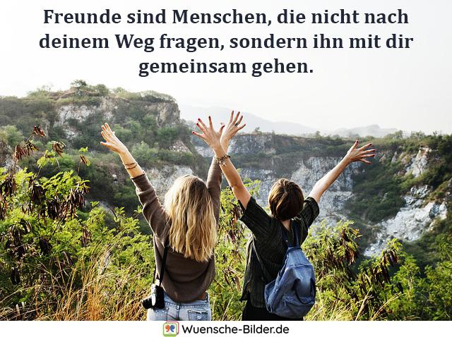 Freunde sind Menschen, die nicht