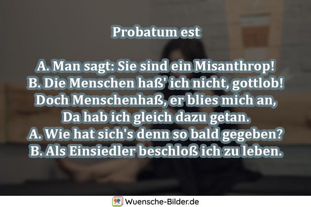 Probatum est  A. Man sagt