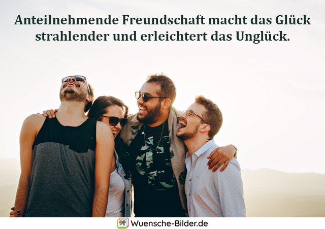 Anteilnehmende Freundschaft macht das Glück
