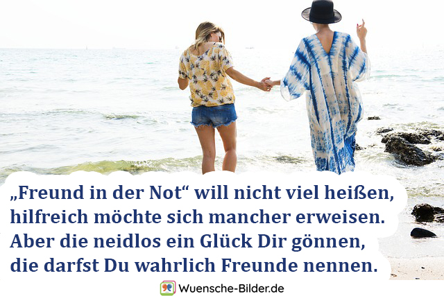 "Freund in der Not"" will"