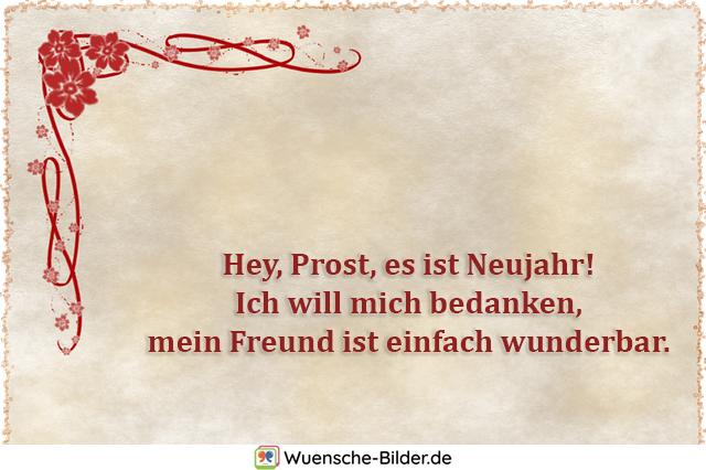 Hey, Prost, es ist Neujahr