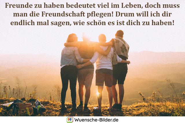 Freunde zu haben bedeutet viel