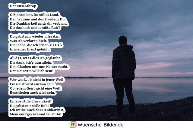 Der Misanthrop  O Einsamkeit, Du