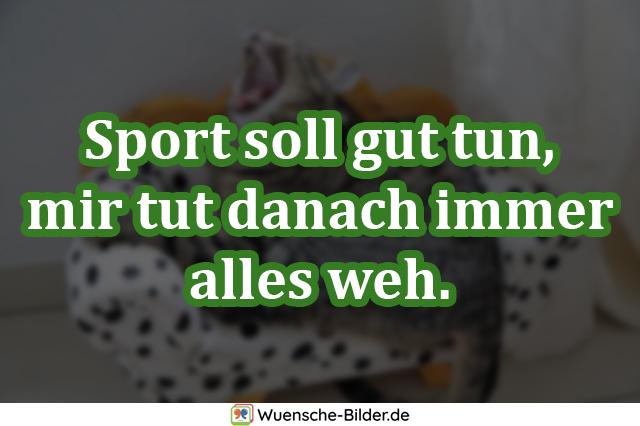 Sport soll gut tun, mir