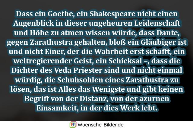 Dass ein Goethe, ein Shakespeare