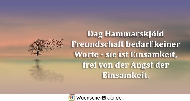 Dag Hammarskjöld Freundschaft bedarf keiner