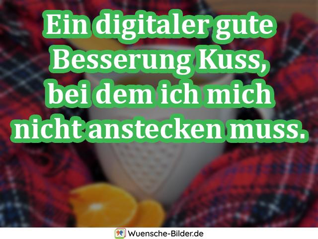Ein digitaler gute Besserung Kuss,
