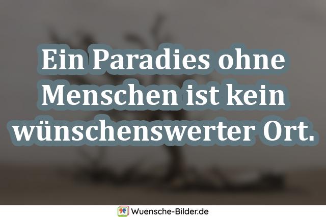 Ein Paradies ohne Menschen ist