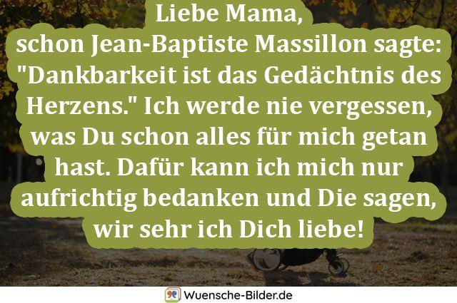 Liebe Mama,  schon Jean-Baptiste Massillon