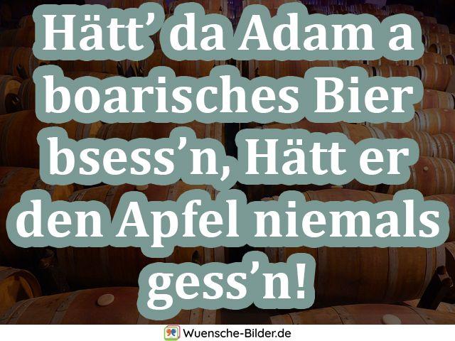 Hätt' da Adam a boarisches