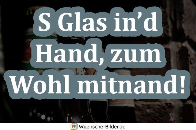 S Glas in'd Hand, zum