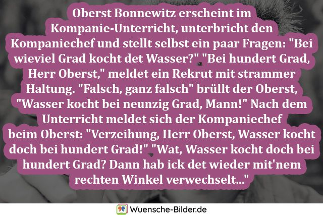 Oberst Bonnewitz erscheint im Kompanie