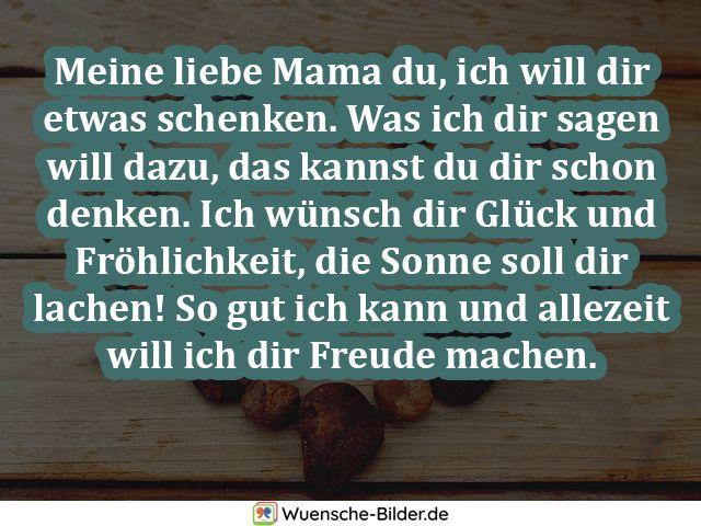 Meine liebe Mama du, ich