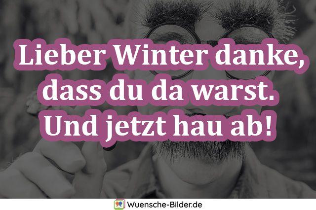 Lieber Winter danke, dass du