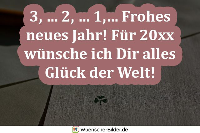 3, … 2, … 1,… Frohes neues