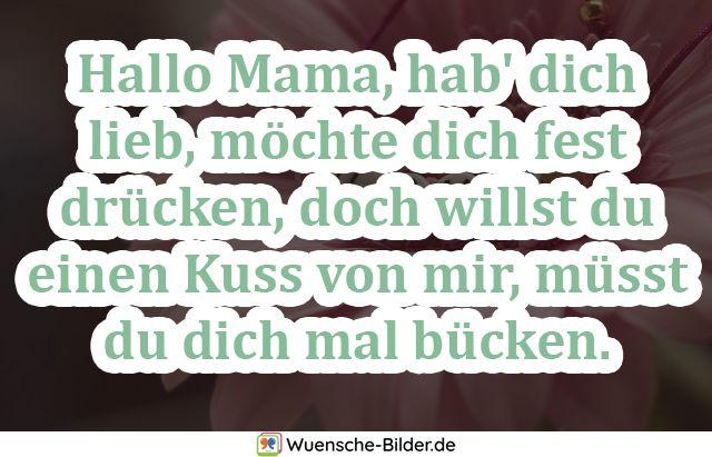 Hallo Mama, hab' dich lieb