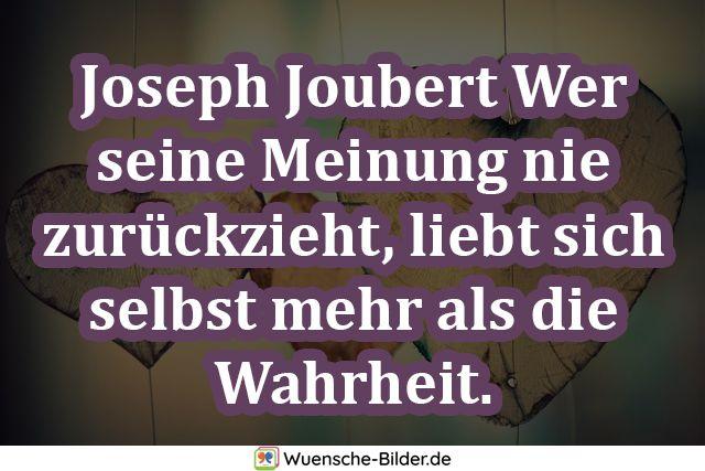 Joseph Joubert Wer seine Meinung