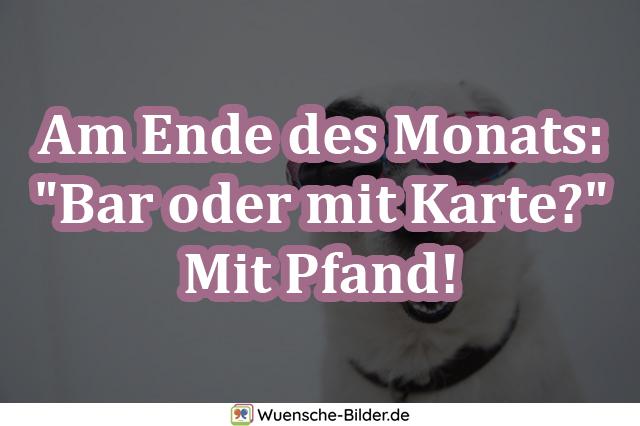 """Am Ende des Monats: """"Bar"""