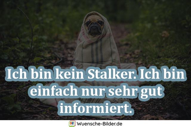 Ich bin kein Stalker. Ich
