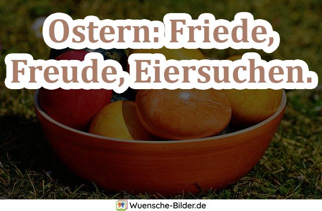 Ostern: Friede, Freude, Eiersuchen.