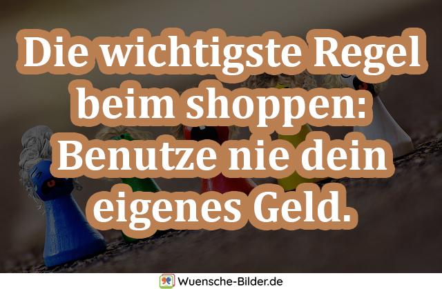 Die wichtigste Regel beim shoppen