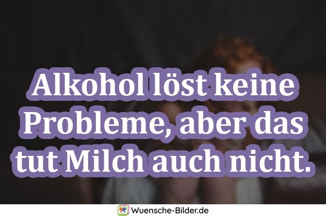 Alkohol löst keine Probleme, aber