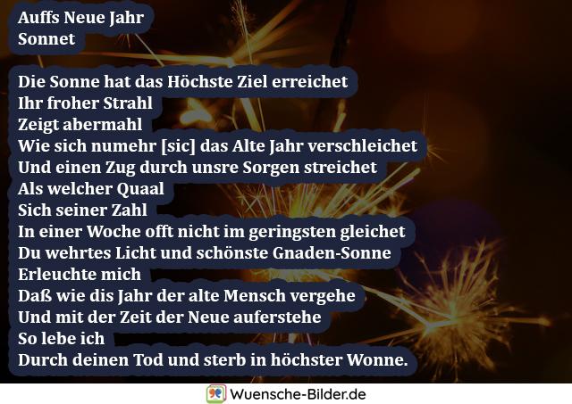 Auffs Neue Jahr Sonnet  Die