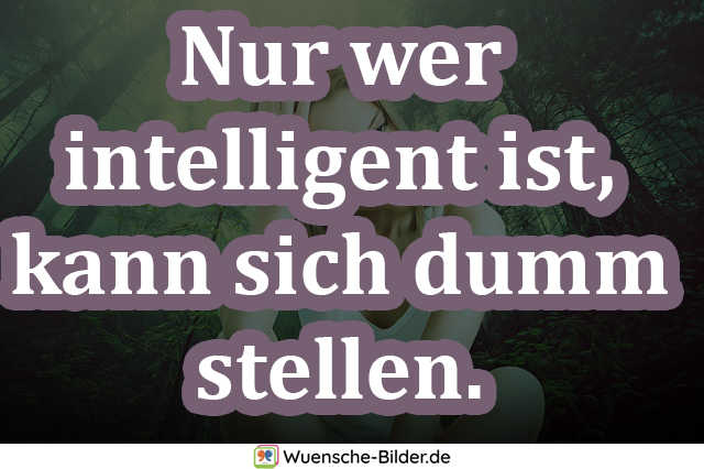 Nur wer intelligent ist, kann