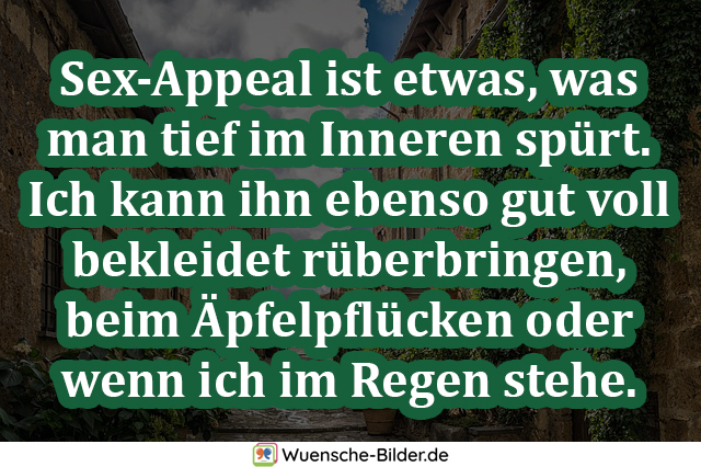 Sex-Appeal ist etwas, was