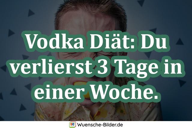 Vodka Diät: Du verlierst 3