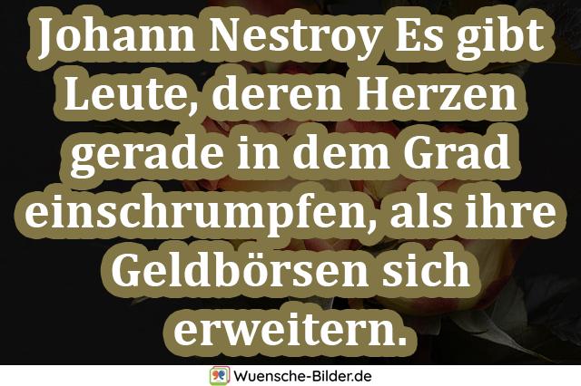 Johann Nestroy Es gibt Leute