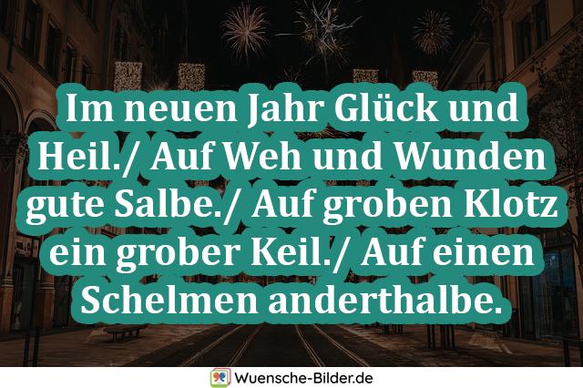 Im neuen Jahr Glück und