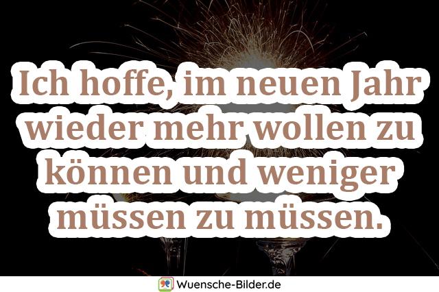 Ich hoffe, im neuen Jahr